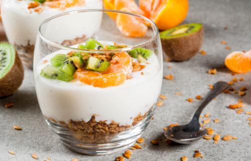 Iogurte com Tangerina e Granola